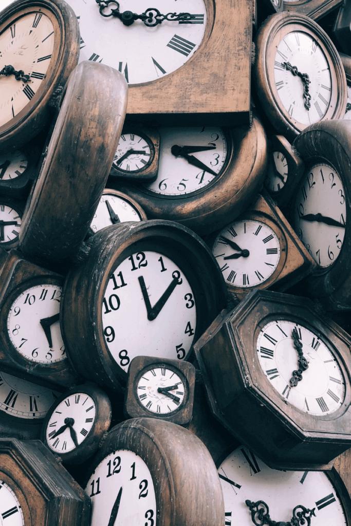 Lots of clocks - feeling overwhelmed by priorities